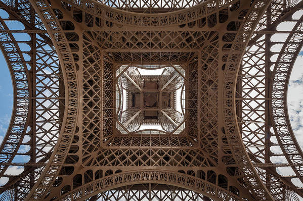 Eiffel tower directly from below the center by Stefan Rotter