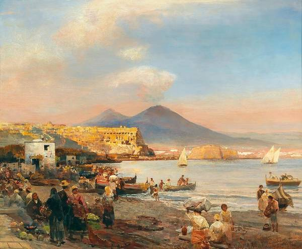 Sunset In The Bay Of Naples by Mountain Dreams