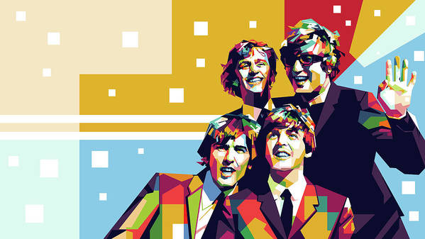 The Beatles Pop Art by Bagas Fa