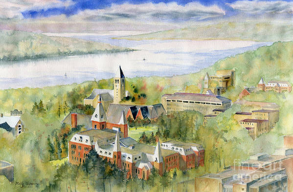 Cornell University by Melly Terpening
