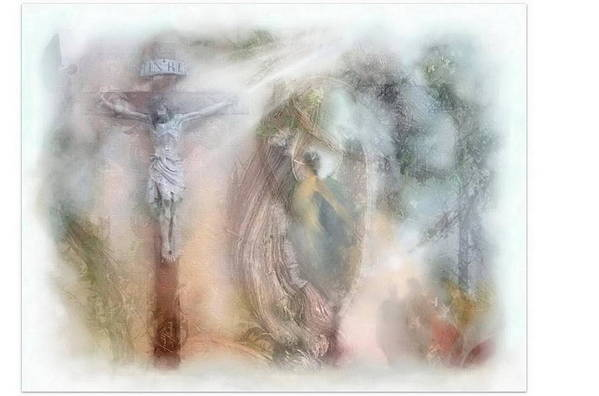 Beauty Art Print featuring the mixed media Angels Commanded To Worship Him. by Freddy Kirsheh
