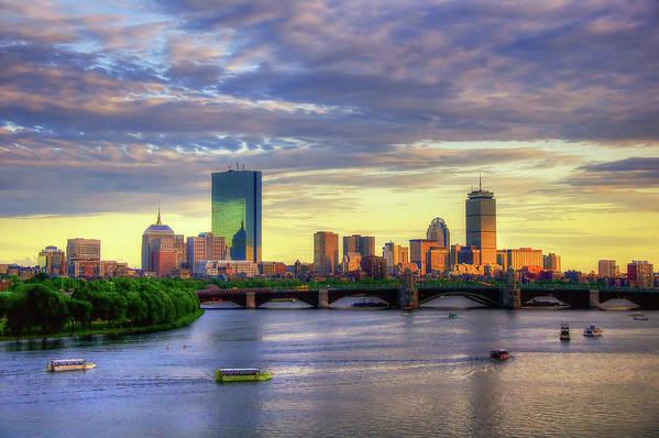 Boston Skyline Sunset over Back Bay by Joann Vitali