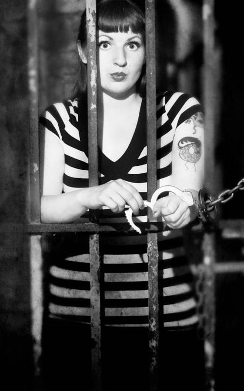 Model Art Print featuring the photograph Behind Bars by Jim Poulos