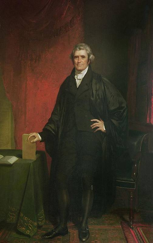 Portrait Print featuring the painting Chief Justice Marshall by Chester Harding