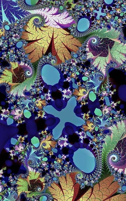 Fractal Art Print featuring the digital art Flourish Forth by Kenneth Keller