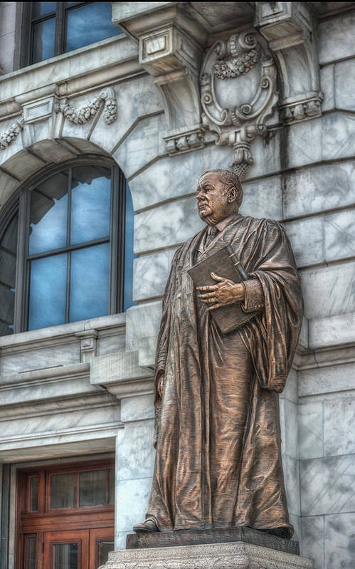 Statue Art Print featuring the photograph Justice by Brenda Bryant