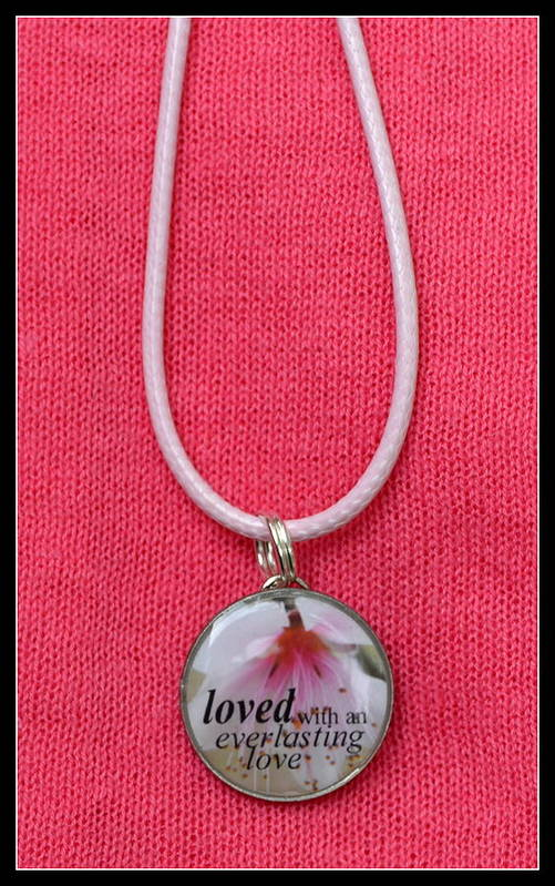 Pendant Art Print featuring the jewelry Loved With An Everlasting Love Pendant by Carla Parris