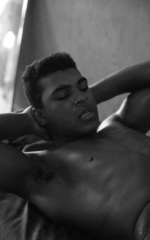 Marvin Newman Art Print featuring the photograph Muhammad Ali Sit Ups by Retro Images Archive