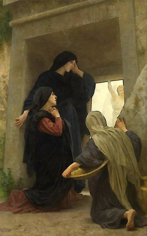 William Bouguereau Art Print featuring the digital art The Holy Women At The Tomb by William Bouguereau