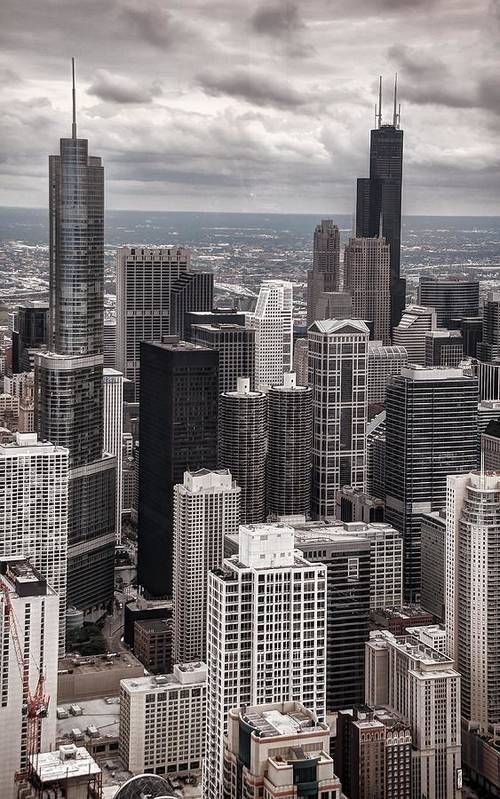 Chicago Art Print featuring the photograph Towers Of Chicago by Ken Smith