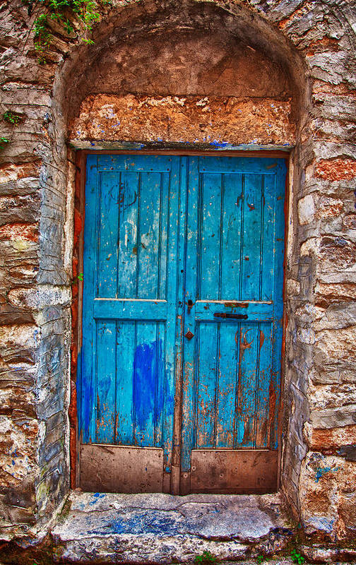 Old Art Print featuring the photograph Traditional Door 2 by Emmanouil Klimis