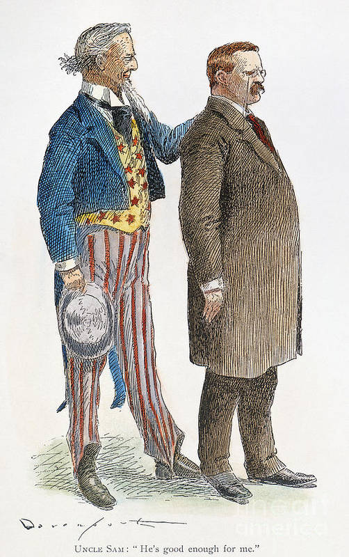 1904 Art Print featuring the photograph Presidential Campaign, 1904 by Granger