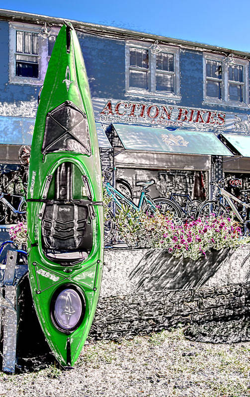 Action Art Print featuring the photograph Action Bikes by Guy Harnett