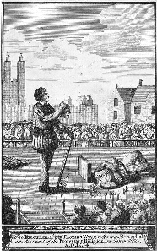 1554 Art Print featuring the photograph England: Beheading, 1554 by Granger