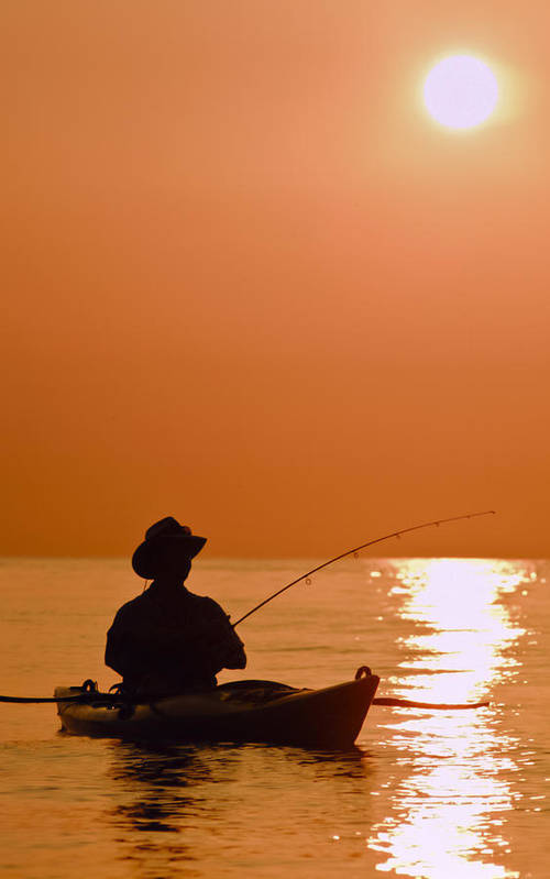 Kayaking Art Print featuring the photograph Sunrise Fishing by Patrick M Lynch