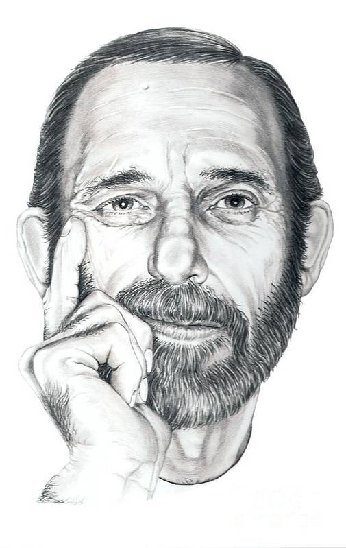 Pencil Art Print featuring the drawing Self Portrait by Murphy Elliott