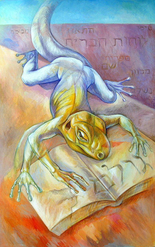 Surreal Art Print featuring the painting Golem by Filip Mihail