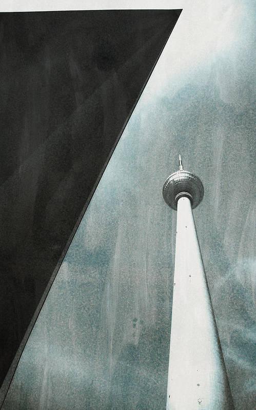 Fernsehturm Berlin Art Print featuring the photograph Berlin Tv Tower by Falko Follert