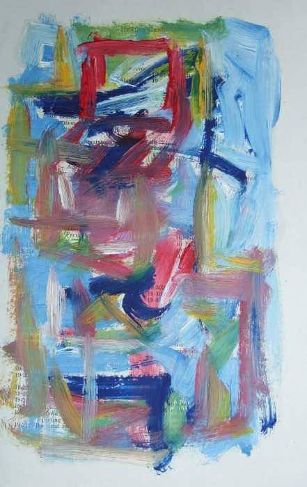 Abstract Art Print featuring the painting Abstract On Paper No. 37 by Michael Henderson