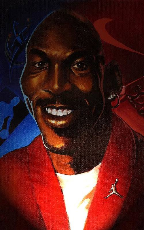 Caricature-portrait Art Print featuring the painting Airness by Raphael Sanabria