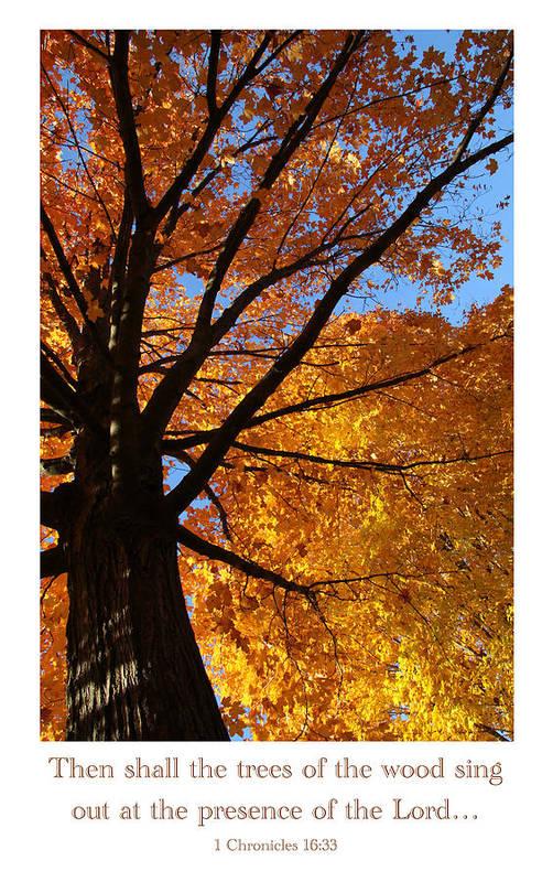Scripture Art Print featuring the photograph Autumn Leaves by Debbie Nobile