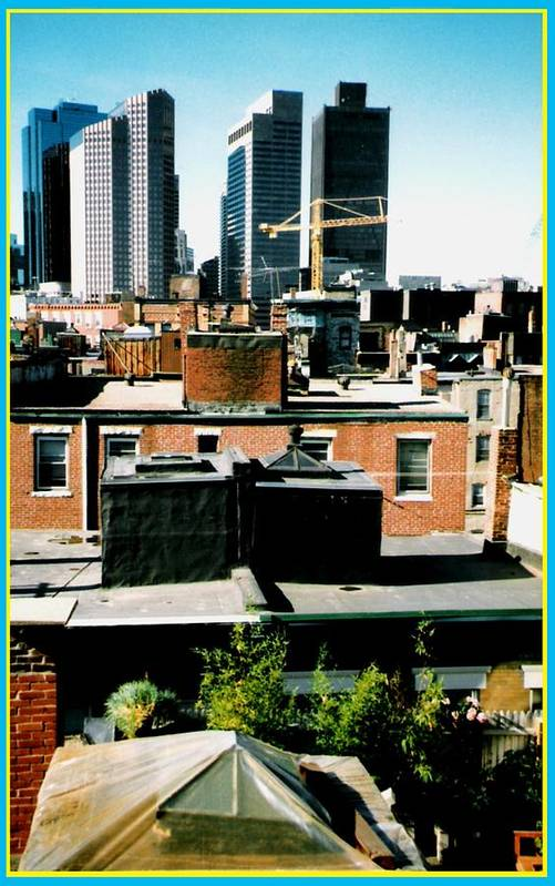 Buildings Art Print featuring the photograph Boston Roof Tops by Gabe Art Inc