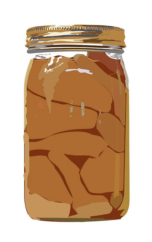 Homemade Art Print featuring the digital art Canned Pears by Robert Bissett