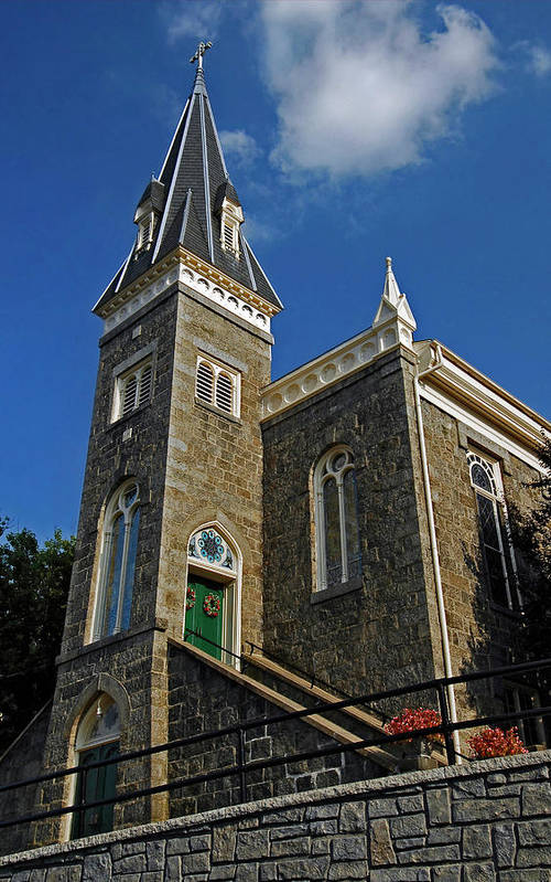 Ellicott City Art Print featuring the photograph Ellicott City Steeple by Murray Bloom