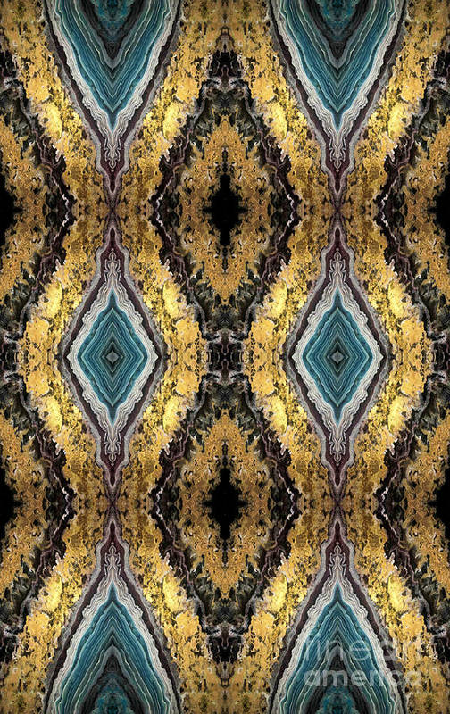Luxury Art Print featuring the digital art Golden Eyes by Monica Sting