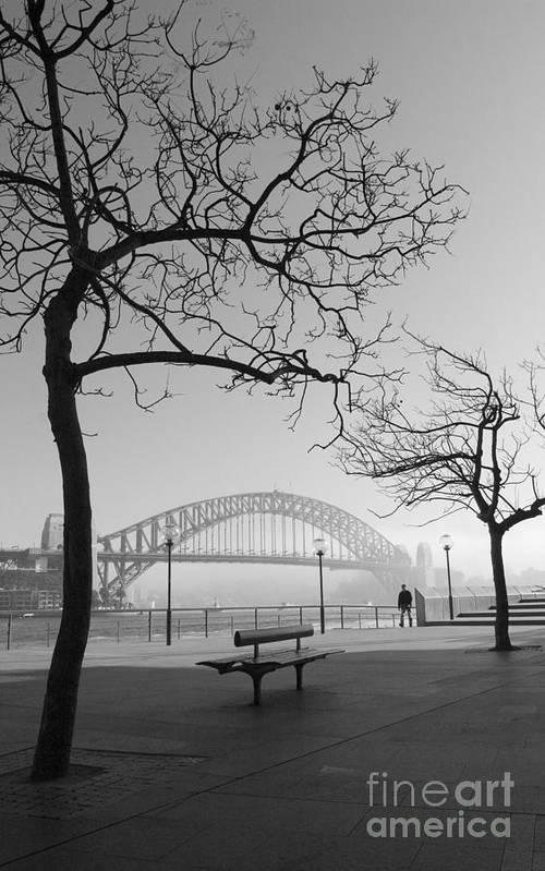Sydney Harbour Bridge Mist Australia Art Print featuring the photograph Misty Sydney Morning by Sheila Smart Fine Art Photography
