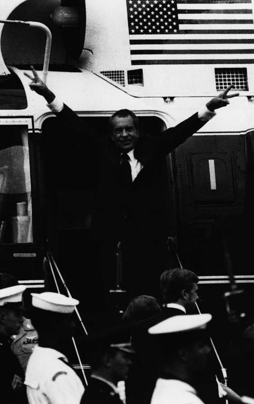 1970s Art Print featuring the photograph Nixon Presidency.  Former Us President by Everett