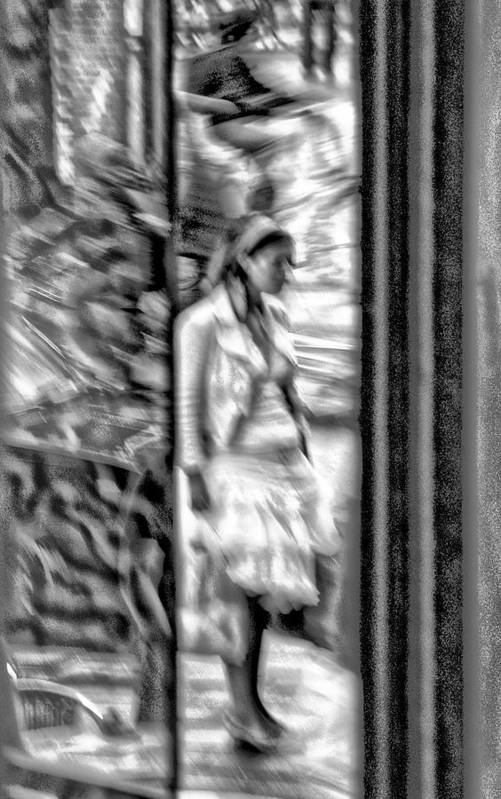 Woman Art Print featuring the photograph Reflected Signal by Marco Moscadelli