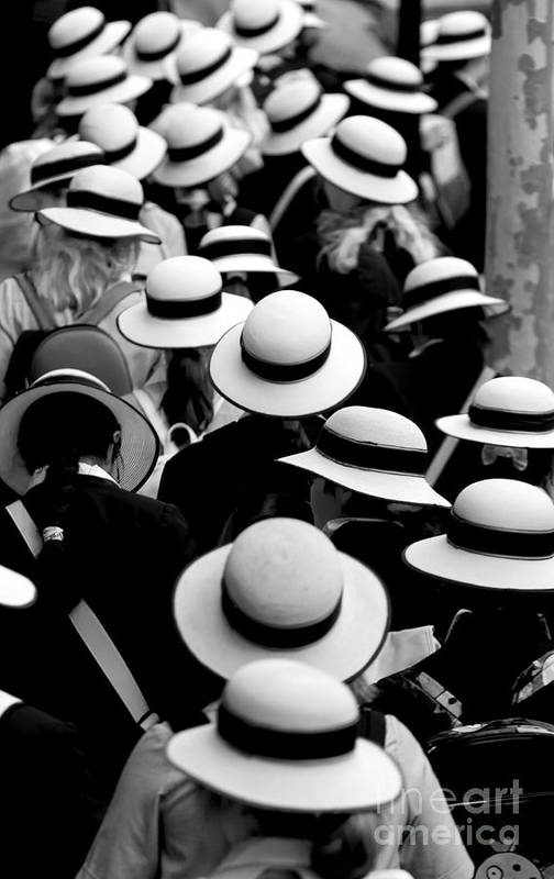 Hats Schoolgirls Art Print featuring the photograph Sea Of Hats by Sheila Smart Fine Art Photography