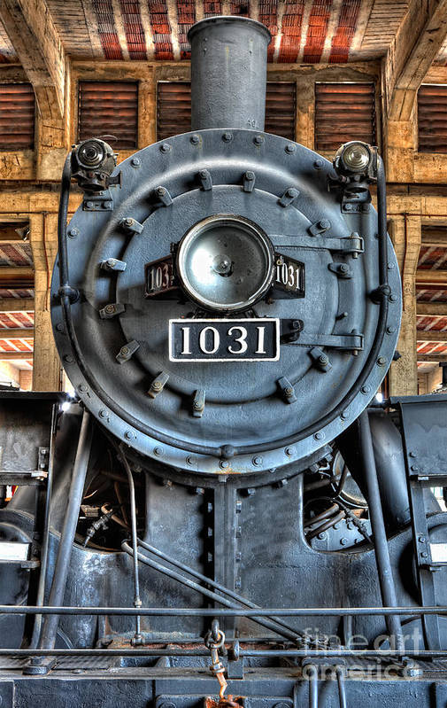 North Carolina Art Print featuring the photograph Trains - Steam Locomotive 1031 by Dan Carmichael