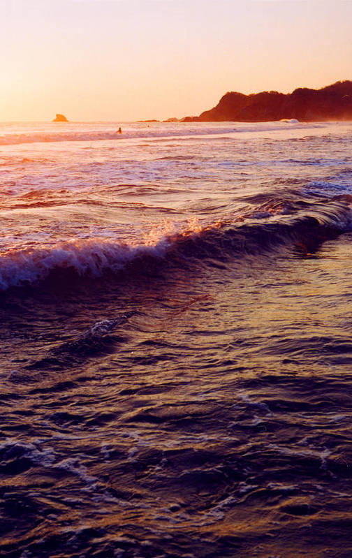 Sunset Art Print featuring the photograph Warm Sunset In Zipolite 3 by Lyle Crump