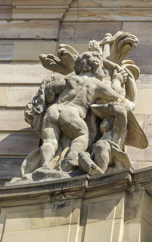 Alsace Art Print featuring the photograph Rohan Palace Sculpture by Teresa Mucha