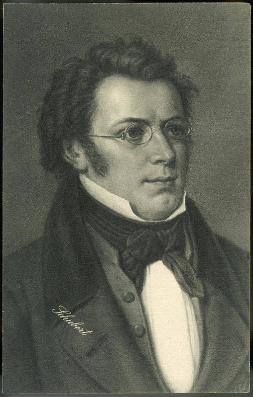 Franz Art Print featuring the drawing Franz Schubert (1797-1828) Austrian by Mary Evans Picture Library