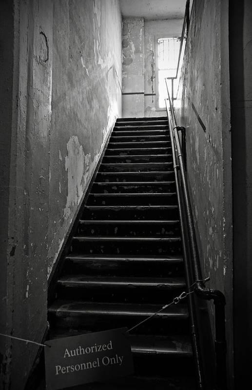 Alcatraz Hospital Art Print featuring the photograph Alcatraz Hospital Stairs by RicardMN Photography