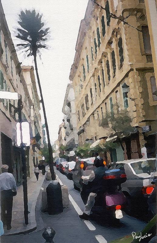 Art Art Print featuring the photograph Busi Street by Piero Lucia