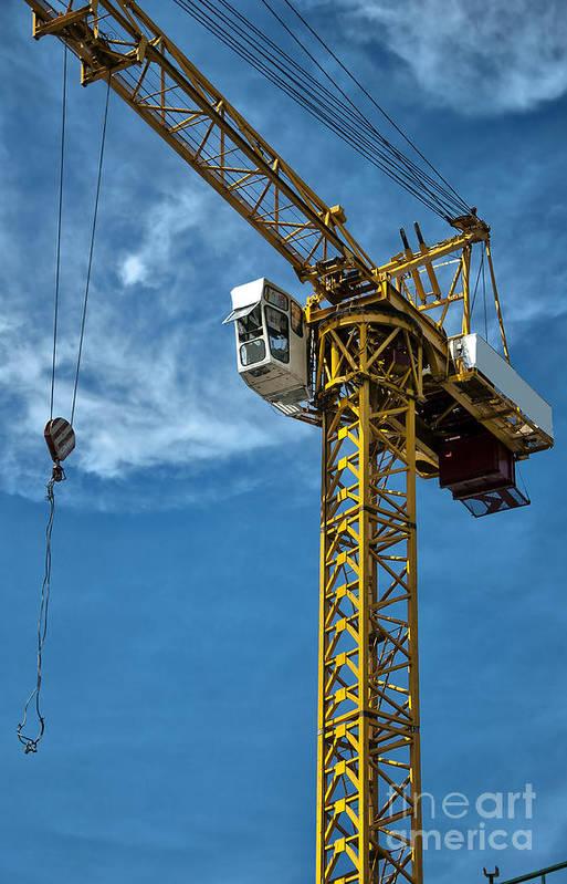 Construction Art Print featuring the photograph Construction Crane Asia by Antony McAulay