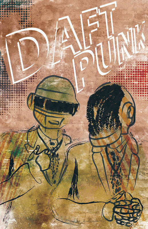Poster Of Daft Punk. Poster Is Signed And Numbered By Artist Jackson. Limited Edition Of 100. Art Print featuring the photograph Daft Punk by Jackson