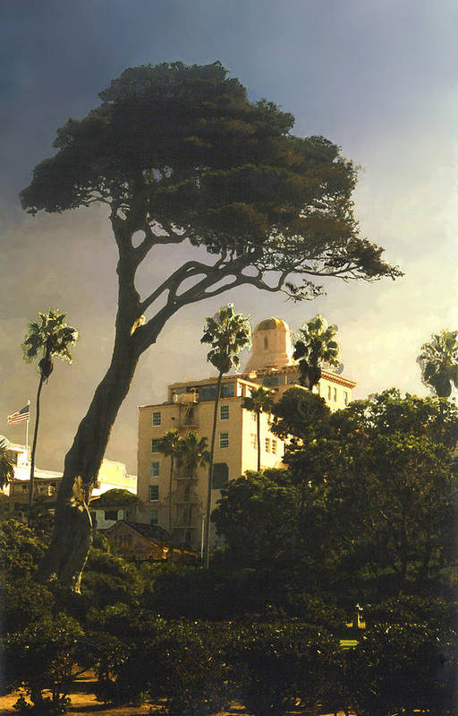 Landscape Art Print featuring the photograph Hotel California- La Jolla by Steve Karol