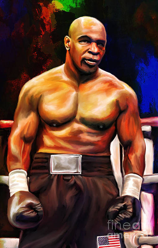 Art Print featuring the painting Iron Mike. by Andrzej Szczerski