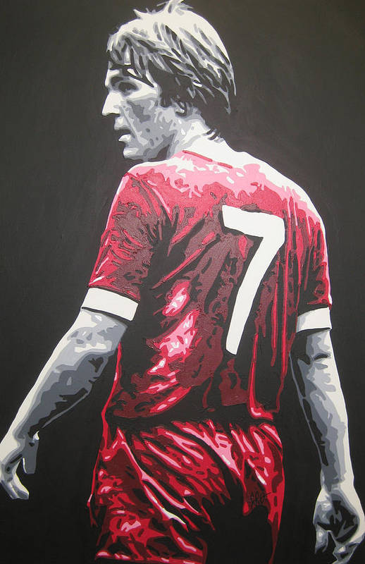 Kenny Dalglish Art Print featuring the painting Kenny Dalglish - Liverpool Fc 2 by Geo Thomson