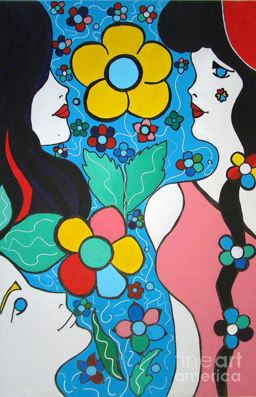 Pop-art Art Print featuring the painting Life Is Beautiful by Silvana Abel