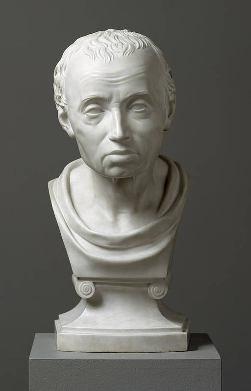 Immanuel; Male; Philosopher; Philosophy; Classical Style; Bust Art Print featuring the sculpture Portrait Of Emmanuel Kant by Friedrich Hagemann