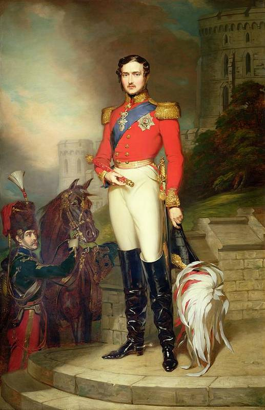 Fusilier Art Print featuring the painting Prince Albert by John Lucas