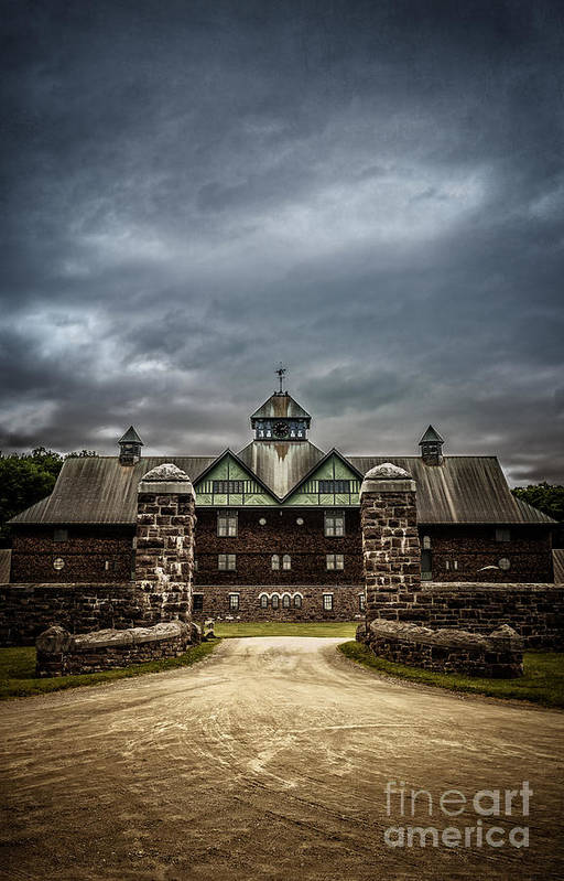 Shelburne Art Print featuring the photograph Private School by Edward Fielding