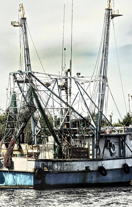 Shipping Art Print featuring the photograph Seasoned Fishing Boat by Debra Forand