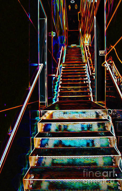 Glow Art Print featuring the photograph Stairway To Heaven by Phil Cardamone